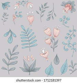 Light pink flowers 300 dpi digital pattern