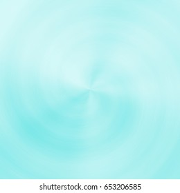 Light radial soft twirl vortex lines abstract cyan background
