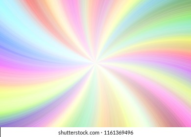 Light rainbow colorful transparent beams twirl festive empty background
