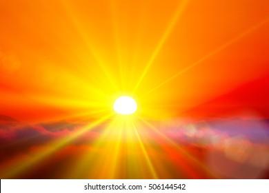 Light, rays, the sun