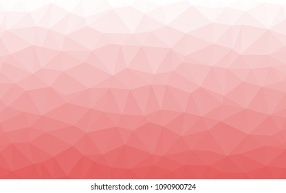 Light red with white. Triangular low polygon geometric texture, illustration background abstact, Mosaic background.