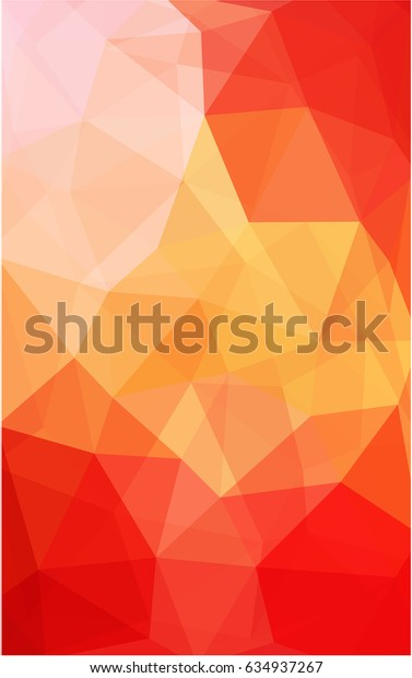 Light Red, Yellow polygonal illustration, which consist of triangles. Triangular design for your business. Creative geometric background in Origami style with gradient