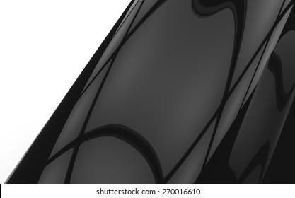 Light Reflections on Black Surface Background