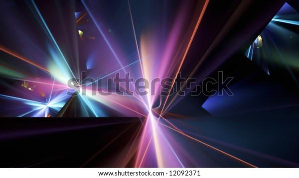 Light Refraction, 16:9 Fractal Image