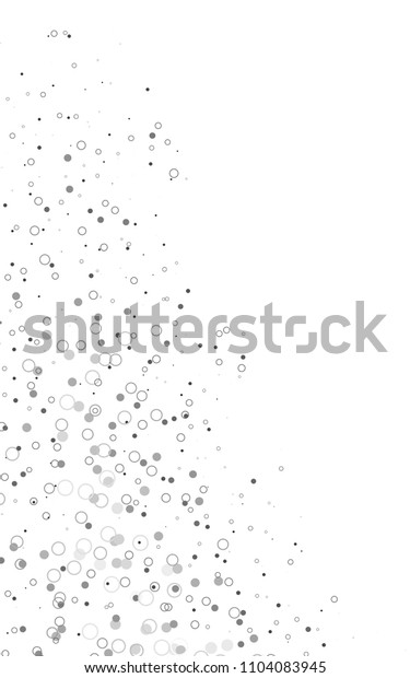Light Silver, Gray vertical  layout with circle shapes. Abstract illustration with colored bubbles in nature style. Completely new template for your brand book.