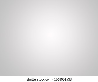 Light spot on pale background. Grey gradient. Grey background with white middle