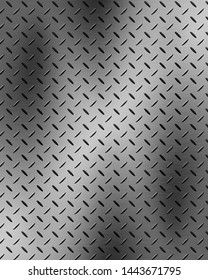 Light steel metal background with reflection