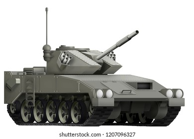 light tank apc isolated object on white background. 3d illustration