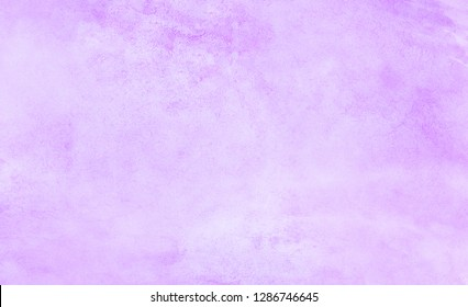 Light violet watercolor background. Aquarelle paint paper textured canvas for text design, greeting card, template. Purple color gradient handmade illustration