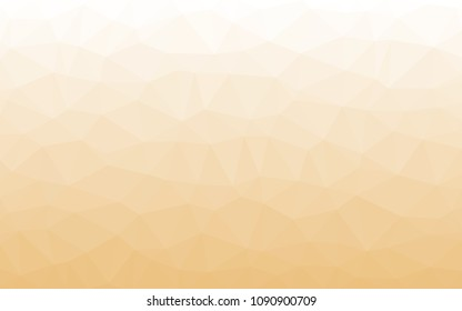 Light yellow with white. Triangular low polygon geometric texture, illustration background abstact, Mosaic background.
