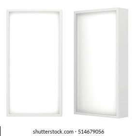 Lightbox isolated On white Background 3D rendering.