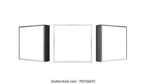 lightbox on white 3d rendering