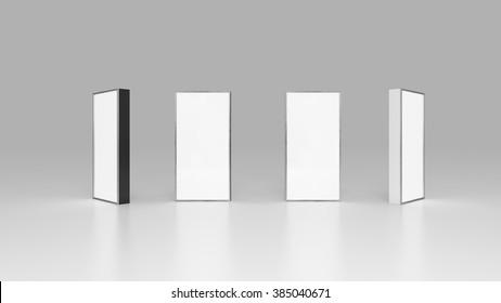 Lightbox On white Background 3D rendering