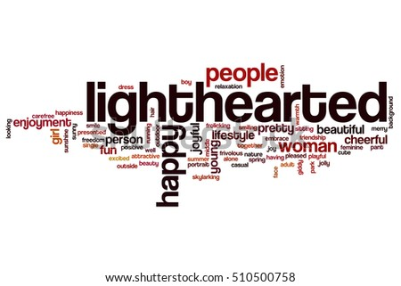 lighthearted word cloud concept stock illustration 510500758