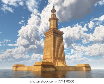 Lighthouse of Alexandria Computer generated 3D illustration