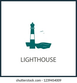 Lighthouse icon.  concept illustration for design.