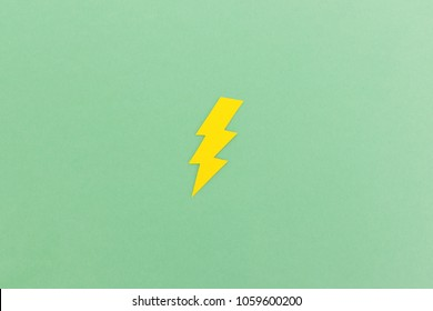 Lightning bold paper cut symbol with space for text