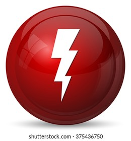 Lightning icon. Internet button on white background.