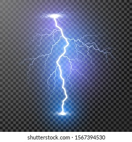 Lightning. Magic and bright light effects. Illustration