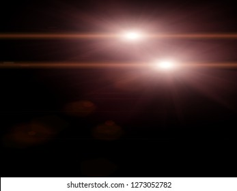 lights effects isolated on black backgrounds