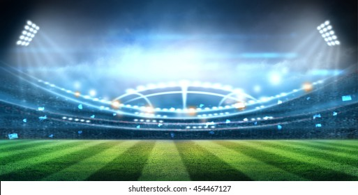 lights at night and stadium 3D.