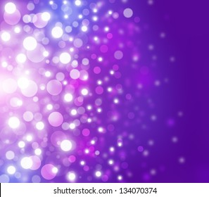 Lights on purple background.