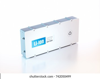 Li-Ion electric vehicle battery. 3d rendering.