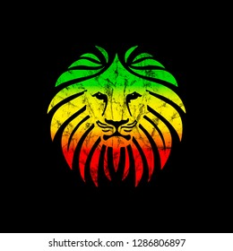 Like a Lion, Reggae Africa Style, Grunge Distressed Effect