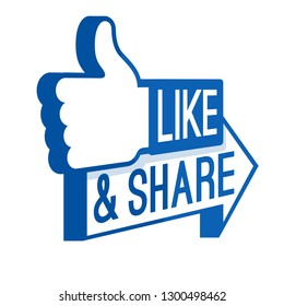 like share icon communication media blue illustration