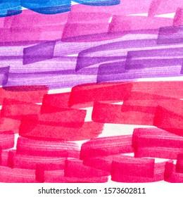 Lilac Shibori Grunge Lines. Lemon Paintbrush Hipster Marker Stripes. Fuchsia Coral Boho Hand Drawn Stroke. Camel Cinnamon Paintbrush Hipster Marker Stripes.