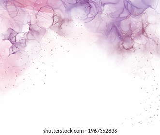 Lilac Violet Alcohol Ink Absract Background