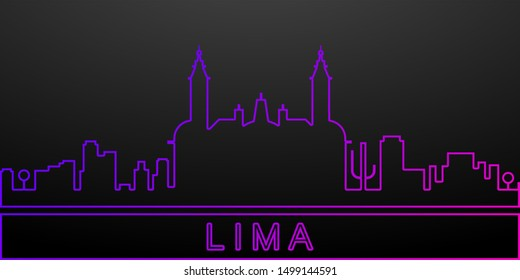 Lima detailed skyline nolan icon. Elements of cities set. Simple icon for websites, web design, mobile app, info graphics