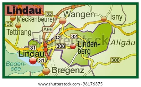 Lindau Germany Map.Lindau Bavaria Germany Stock Illustration Royalty Free Stock