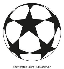 soccer ball stars football match soccer stock vector royalty free