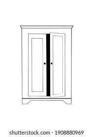 line art drawing closet symbol