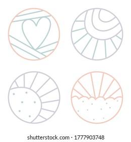 minimalistisches Vektorbild des Line Art Logos
