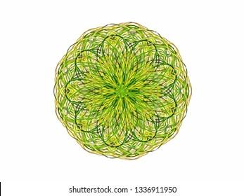 Line art symmetric mandala pattern