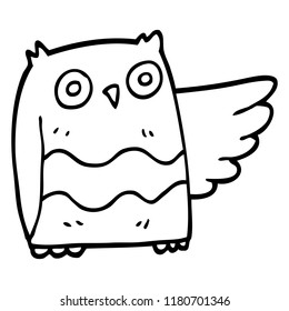 line drawing cartoon cute owl