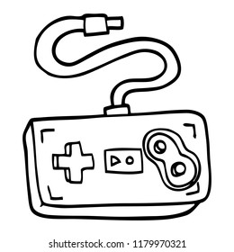 line drawing cartoon game controller