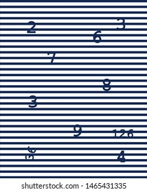 line numbers pattern blackground textile