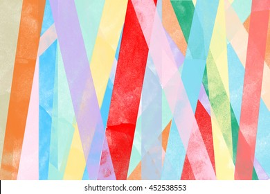 line shape pattern of pastel vintage colorful vertical stripes watercolor wallpaper background. illustration with color of red, brown, yellow, blue, pink, green