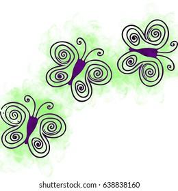 Line shaped butterflies