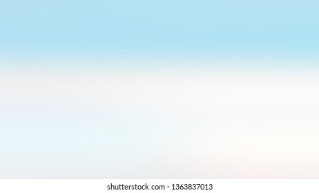 Linear gradient with Blue, Indigo White color. Attractive and mystical blurred background with abstract style. Wallpaper on the desktop PC or notebook.
