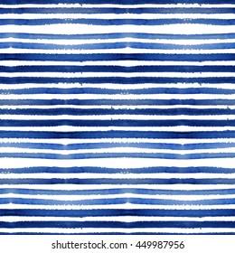 Linear indigo blue stylish seamless pattern. Texture with irregular lines. Indigo shibori modern graphic design.