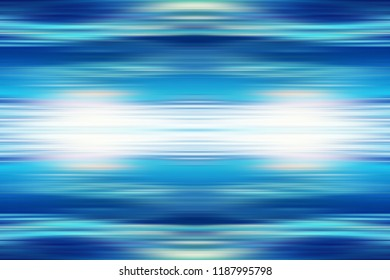 Linear motion effect abstract background artwork. Illustration with horizontal stripes and swooshes of azure aqua blue green purple. Awesome speed movement backdrop for your graphic design project