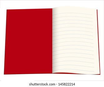 Lined blank copy book, exercise book - school, education etc