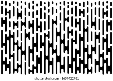 Lines Gradient Pattern. Vertical halftone line texture. Abstract template using half tone background. Raster bw illustration.