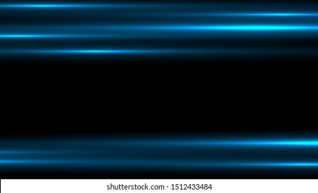 lines with light effects on black transparent background