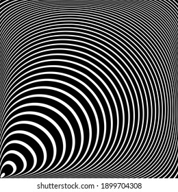 Lines pattern with 3D illusion. Abstract textured baclground.