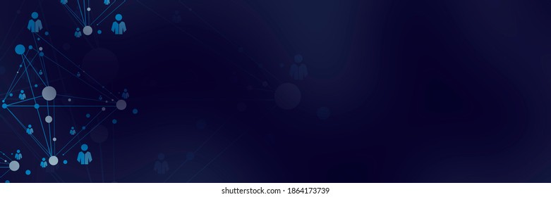 Linked abstract white human.Headline background.